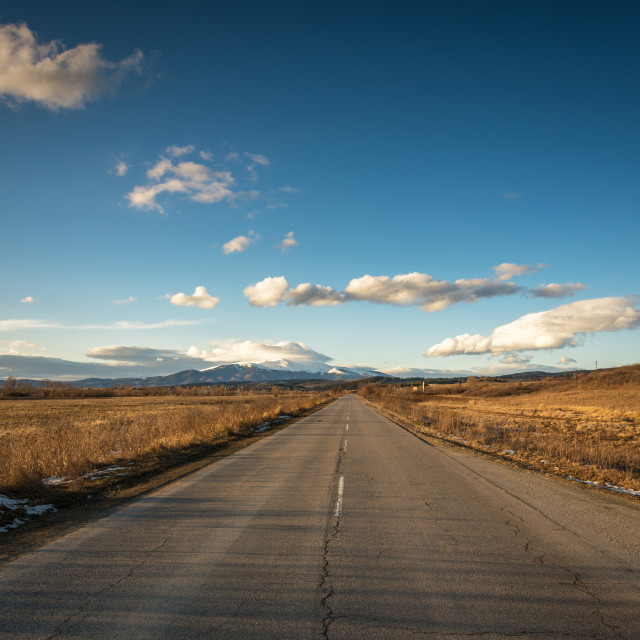 """""""Country road in Bulgaria."""" stock image"""