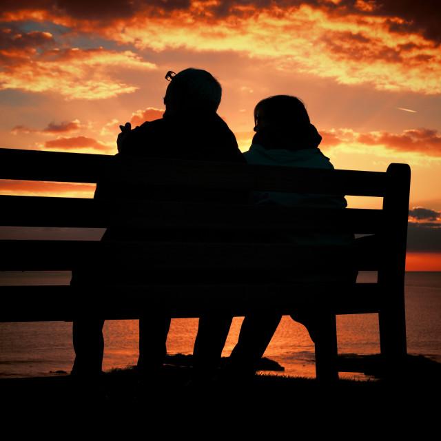 """A Loving Sunset"" stock image"