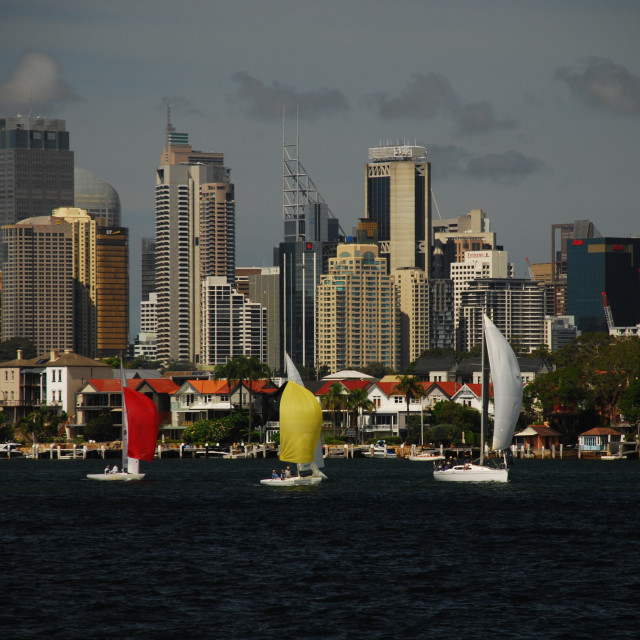 """Yacht Race"" stock image"