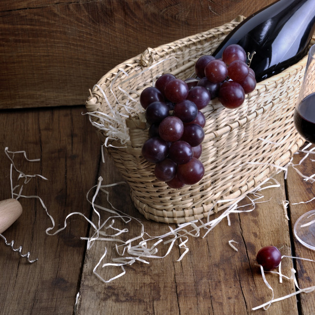 """""""wineglass for tasting on rustic background"""" stock image"""