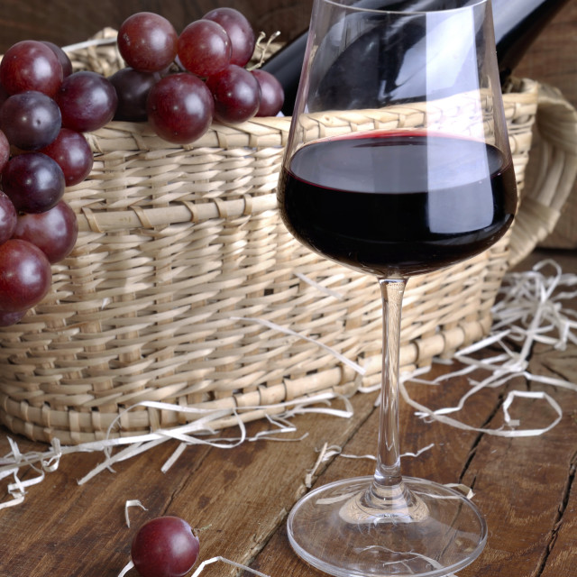"""""""wineglass for tasting in rustic background"""" stock image"""
