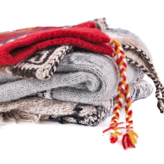 """peruvian woolen clothes"" stock image"