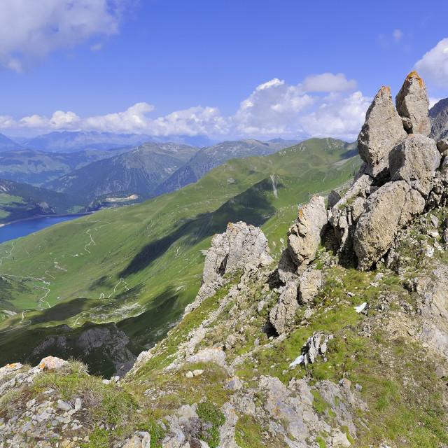 """beautiful alpine mountain"" stock image"