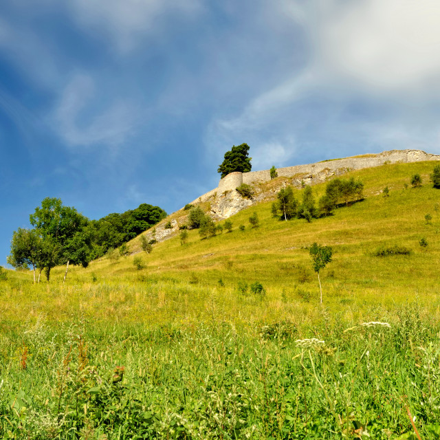 """""""fortress on a hill"""" stock image"""