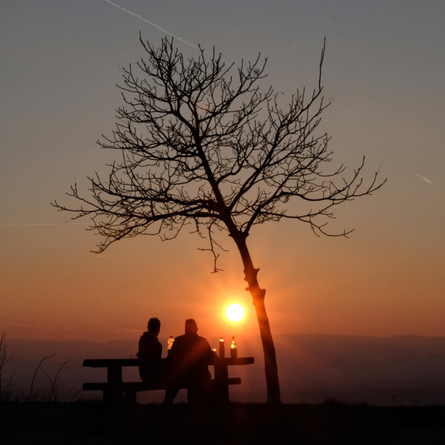 """""""Picknick in the sunset"""" stock image"""