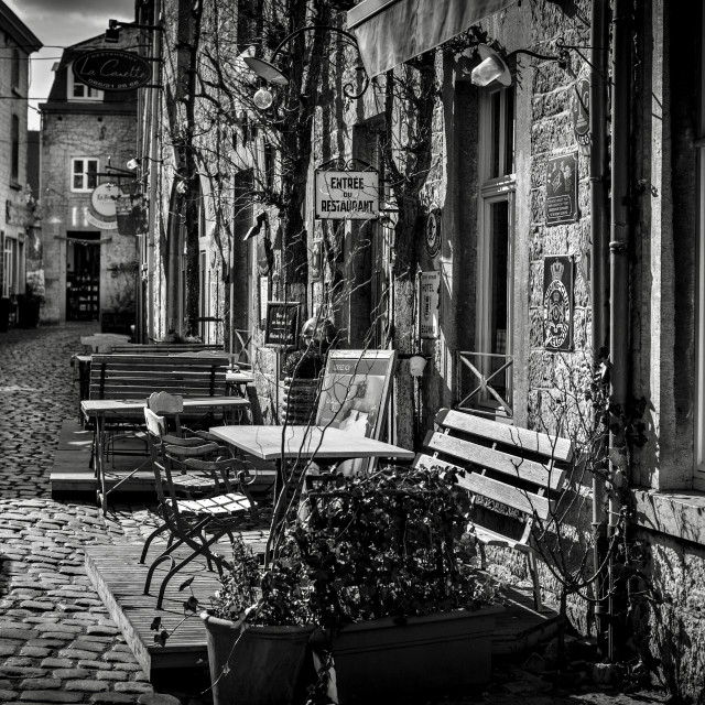 """""""small street in Durbuy"""" stock image"""