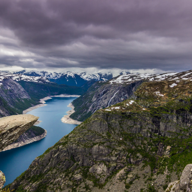 """July 22, 2015: The famous edge of Trolltunga, Norway"" stock image"