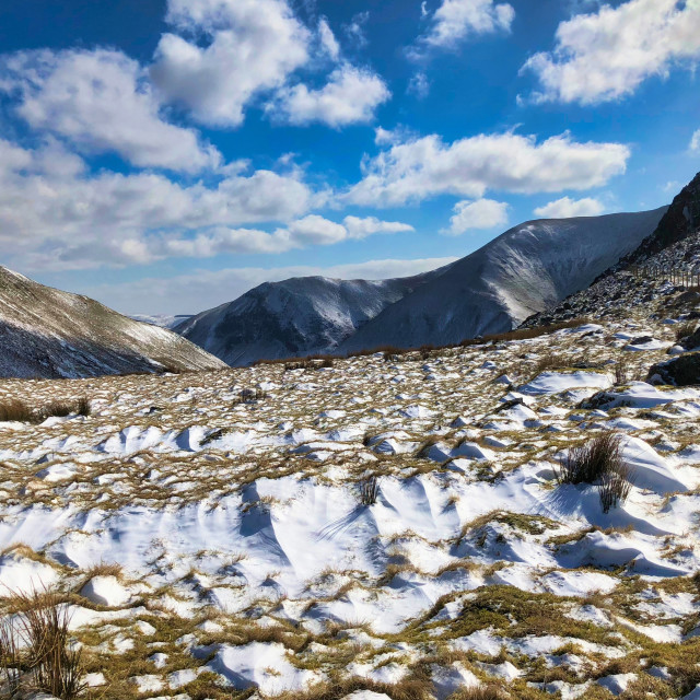 """Winter in Snowdonia National Park, Wales, UK"" stock image"