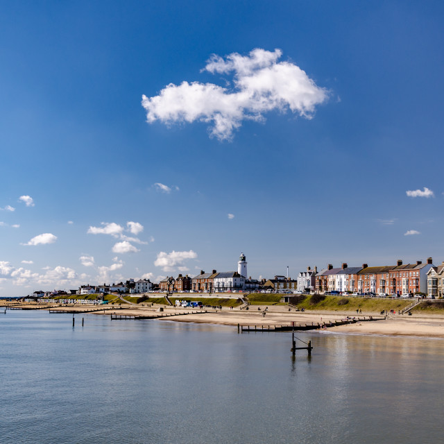 """Sunny Southwold"" stock image"
