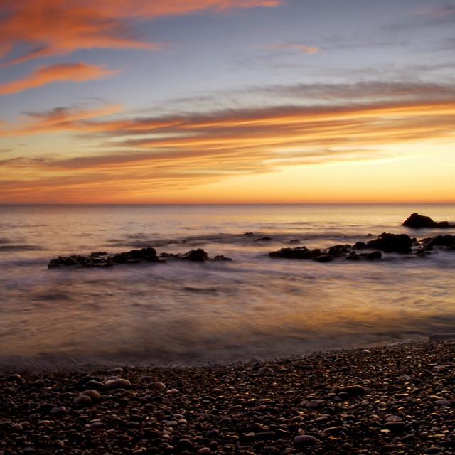 """""""Reflected Sunrise."""" stock image"""