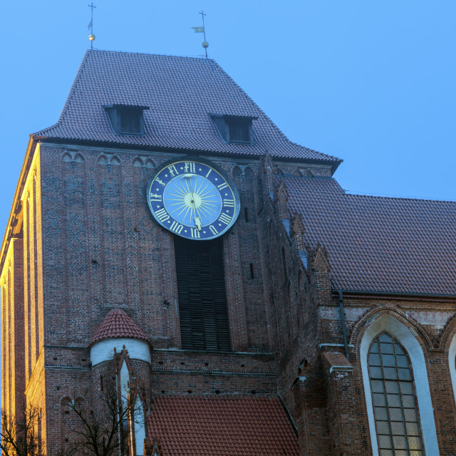 """""""Cathedral of St. John the Baptist and St. John the Evangelist in Torun"""" stock image"""