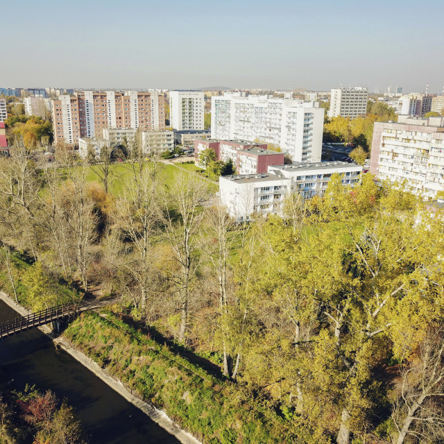 """Panorama of Sosnowiec"" stock image"
