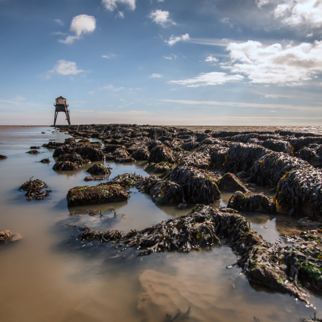 """Dovercourt Low Light At Low Tide"" stock image"
