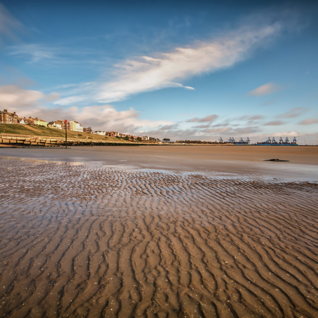 """Dovercourt Beach"" stock image"