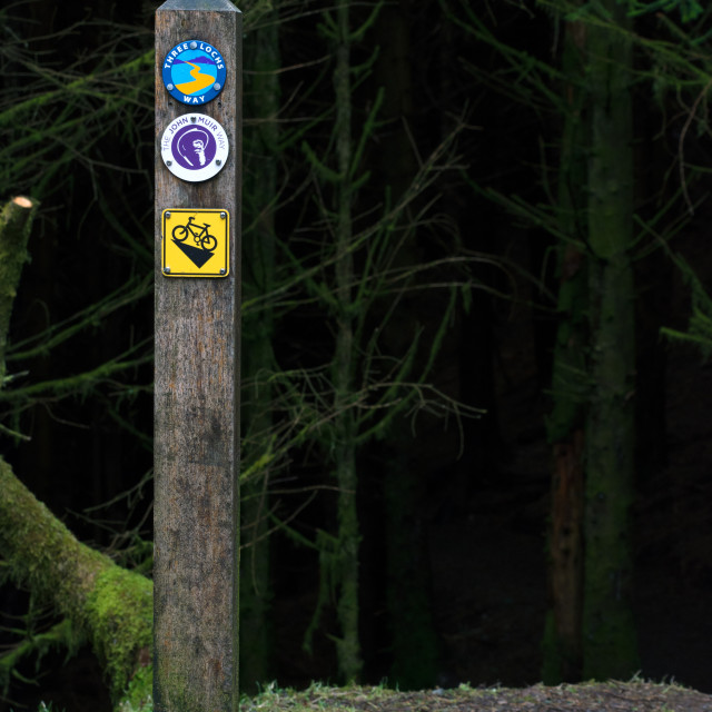 """Three Lochs Way"" stock image"