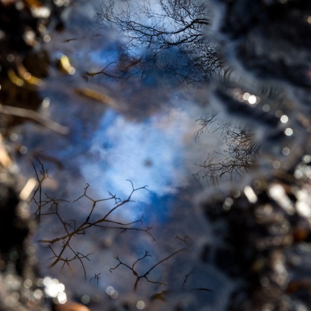 """""""Fuel Spill Reflection"""" stock image"""