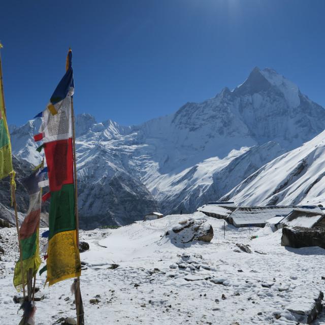 """annapurna base camp, nepal"" stock image"