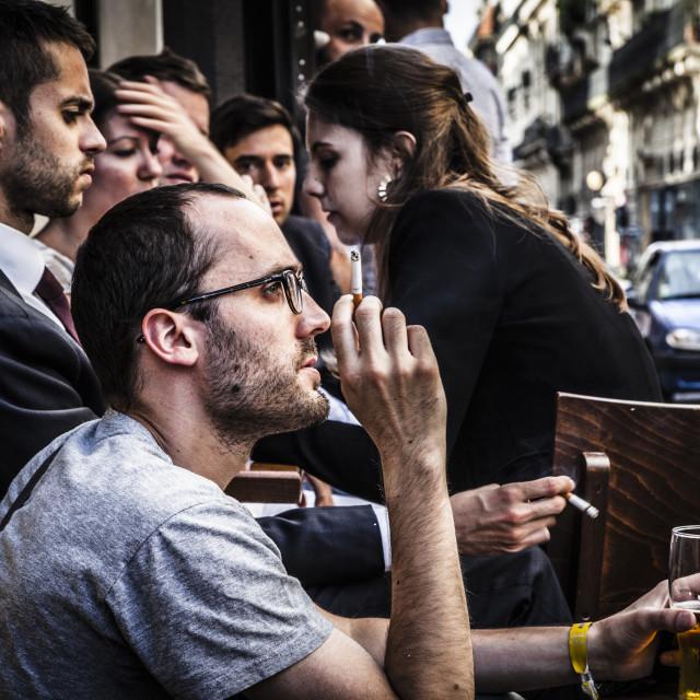 """Typical bar Paris"" stock image"