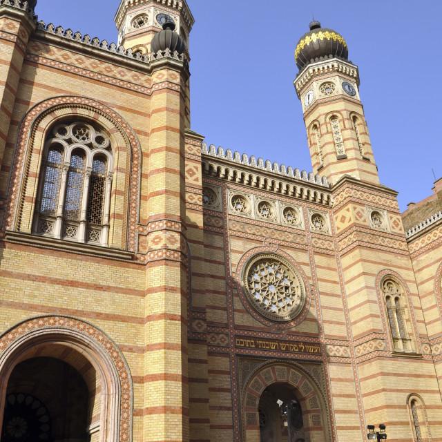 """""""Hungary, Budapest, Synagogue"""" stock image"""