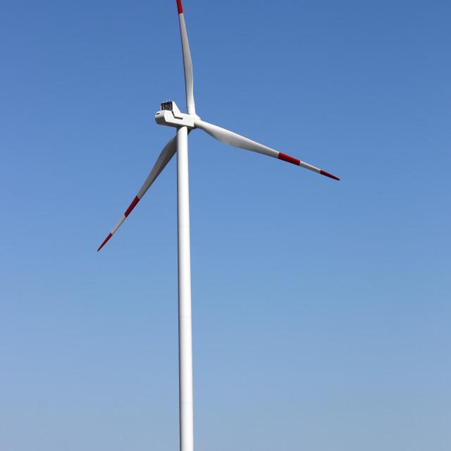 """wind turbines on field renewable energy"" stock image"