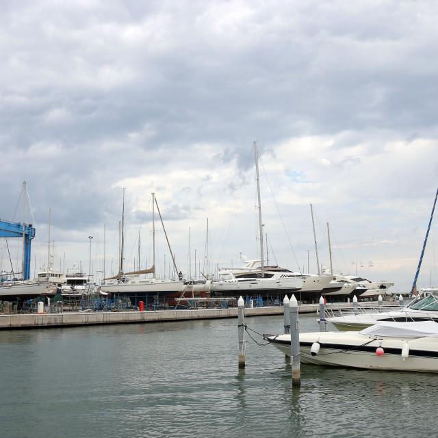 """""""yacht and sailboats port Rimini Italy"""" stock image"""