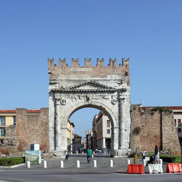 """""""Arco di Augusto Rimini Italy"""" stock image"""