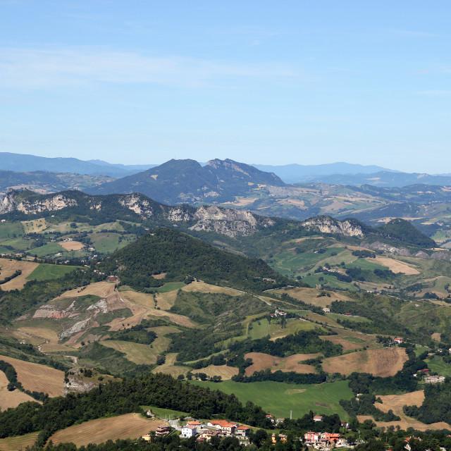 """Apennine mountains San Marino landscape"" stock image"