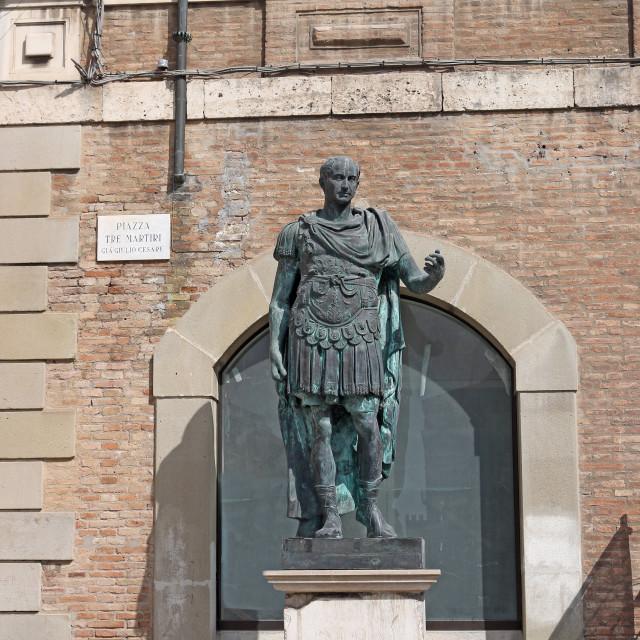 """""""Julius Caesar statue Rimini Italy"""" stock image"""