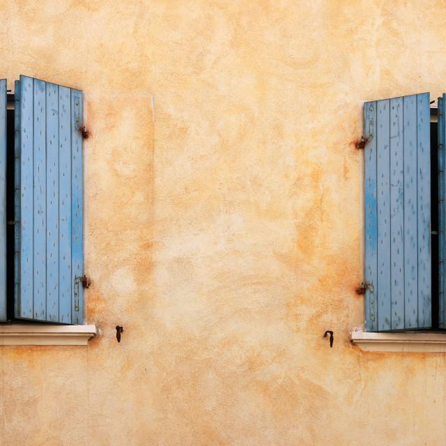 """old house windows detail Rimini Italy"" stock image"