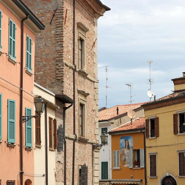 """old houses Rimini Italy"" stock image"