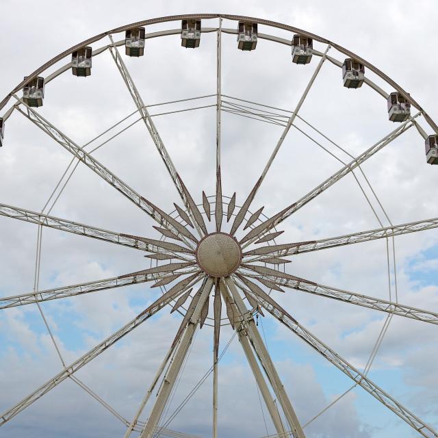 """panoramic wheel summer season Rimini Italy"" stock image"
