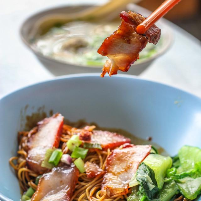 """""""Wonton Noodle Soup"""" stock image"""