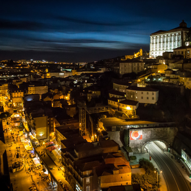 """Porto at Night"" stock image"