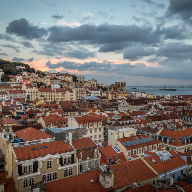 """Lisbon Evening"" stock image"