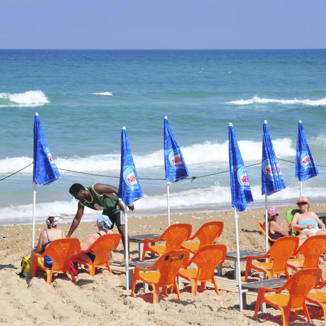 """Haifa beach"" stock image"