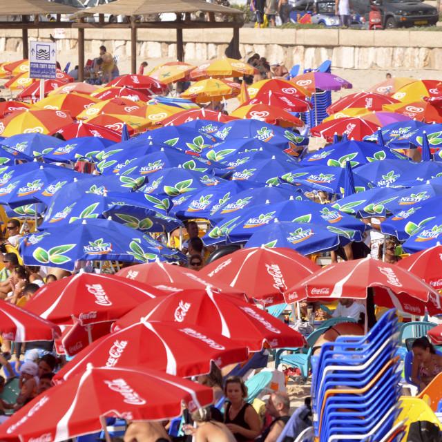 """Tel Aviv beach"" stock image"