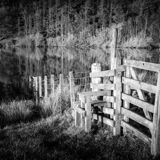 """Cauldshiels Loch"" stock image"