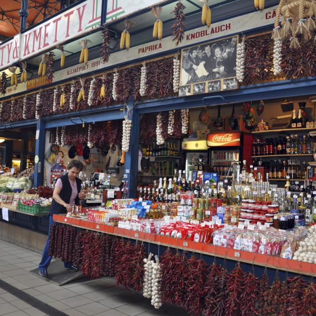 """""""Hungary, Budapest, Market"""" stock image"""