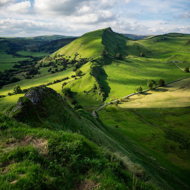 """Sunny Chrome Hill"" stock image"