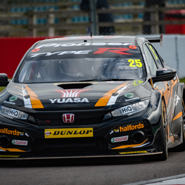 """Matt Neal in the new Civic Race Car"" stock image"