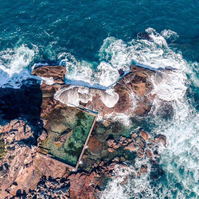 """Sydney, Australia, aerial rock pool"" stock image"
