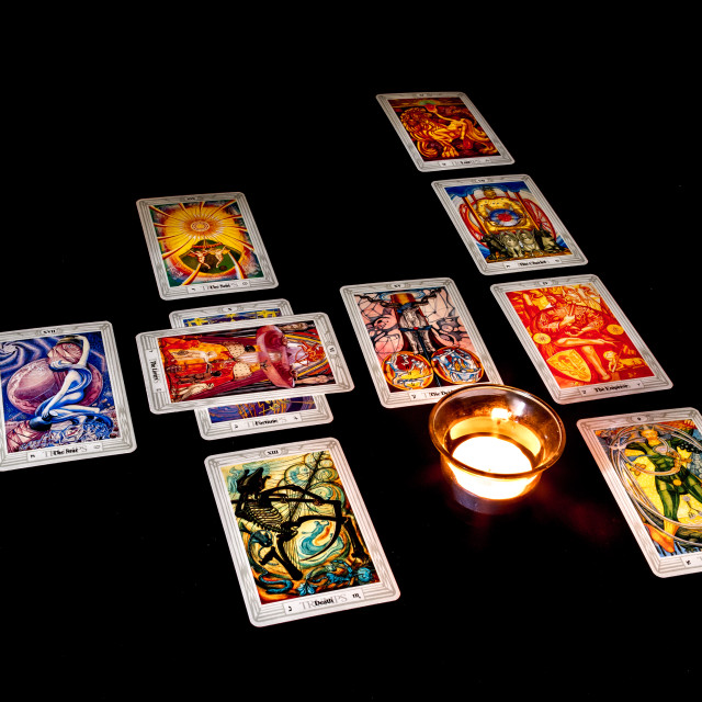 """Celtic Cross Tarot Spread"" stock image"