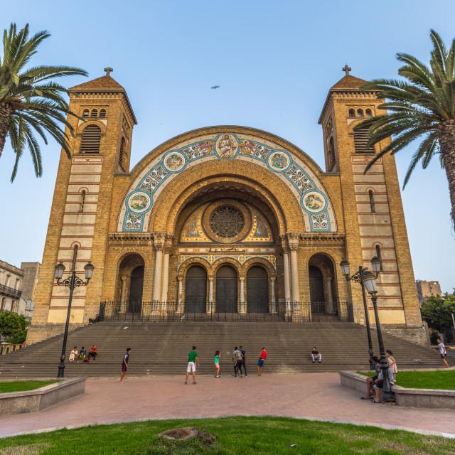 """Oran - June 02, 2017: Cathedral of the Sacred Heart in Oran, Algeria"" stock image"