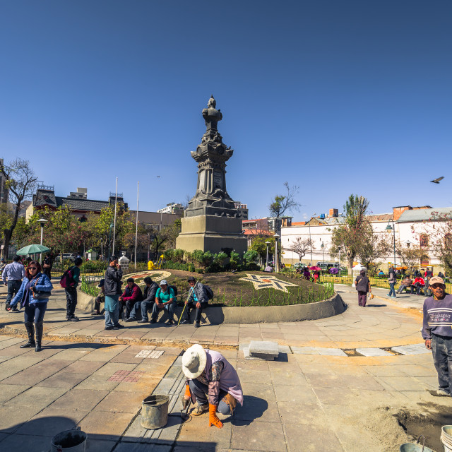 """La Paz - July 24, 2017: Town center of La Paz, Bolivia"" stock image"