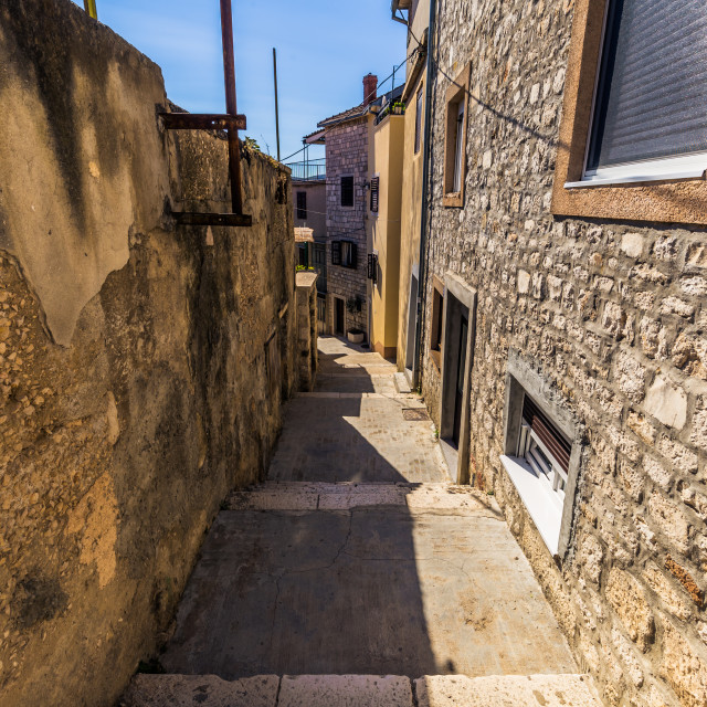 """July 20, 2016: Street in the old town of Sibenik, Croatia"" stock image"