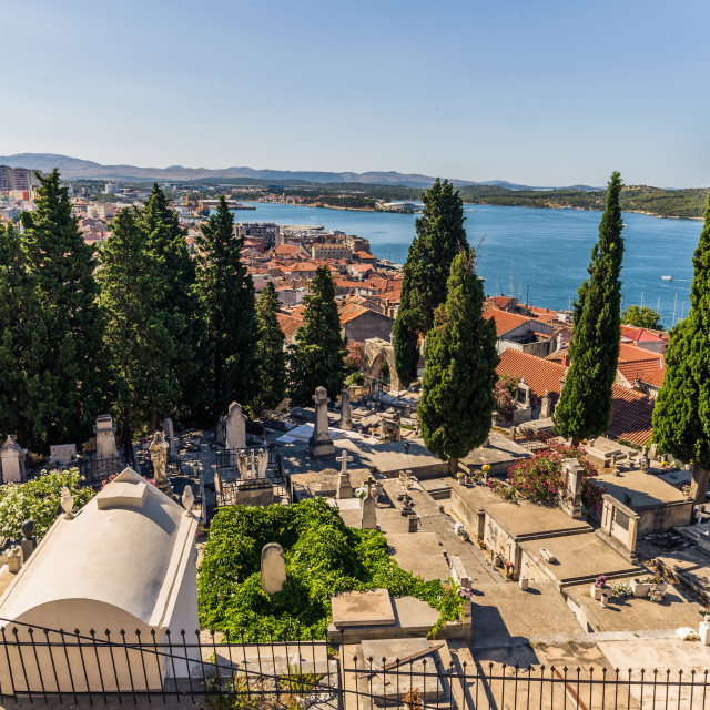 """July 20, 2016: Graveyard of Sibenik, Croatia"" stock image"