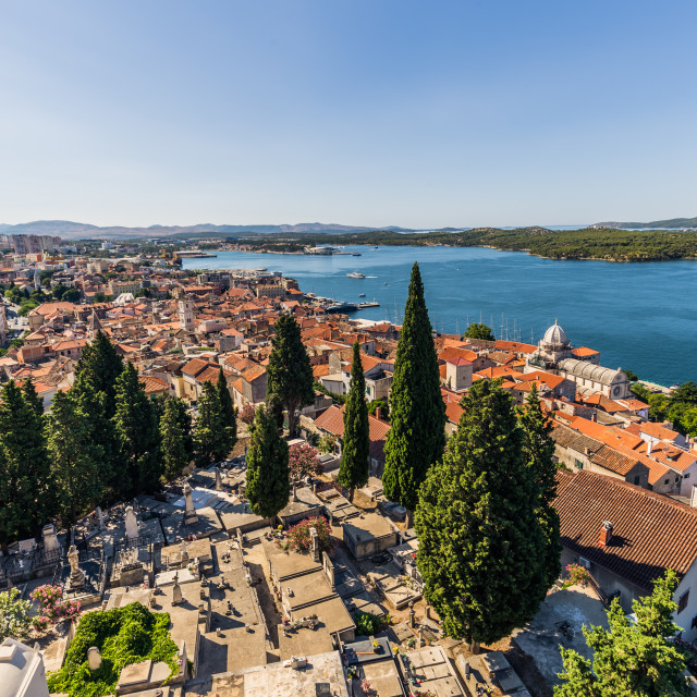 """July 20, 2016: Panorama of Sibenik, Croatia"" stock image"