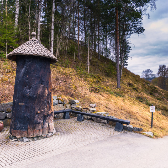 """""""Lillehammer, Norway - May 13, 2017: Entrance to Maihaugen Open Air Museum in..."""" stock image"""