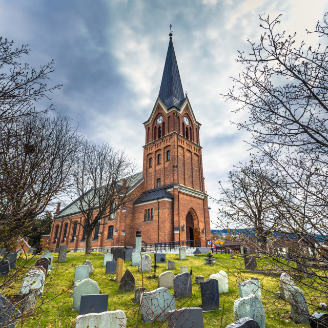 """""""Lillehammer, Norway - May 13, 2017: Church of Lillehammer, Norway"""" stock image"""