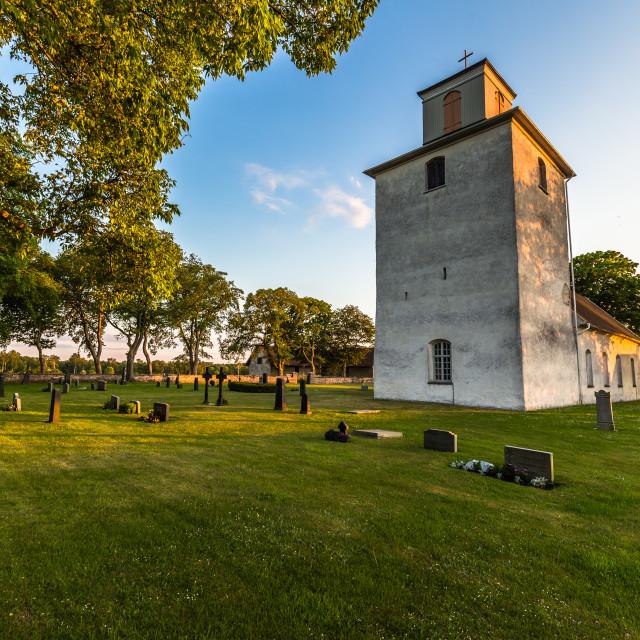 """""""Öland, Sweden - June 04, 2016: Lutheran church in Öland, Sweden"""" stock image"""
